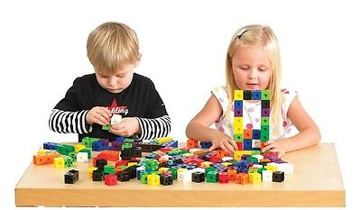 10-1000 Snap Cubes/Unifix Interlocking Linking Cubes Learning Resources   • 10.95£