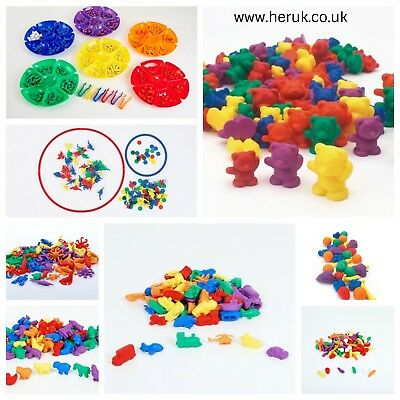 Counters Sticks, Animals, Dinosaur, Bears, Fruit, Veg + More Pattern Maths SEN  • 4.99£