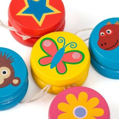 Wooden Yoyo Fun Toy Party Bag Filler • 2.45£