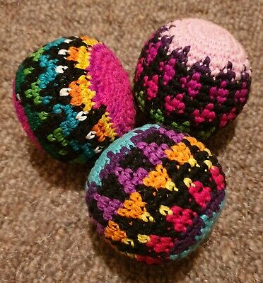 Colourful Handmade Crochet Juggling Balls  • 10£