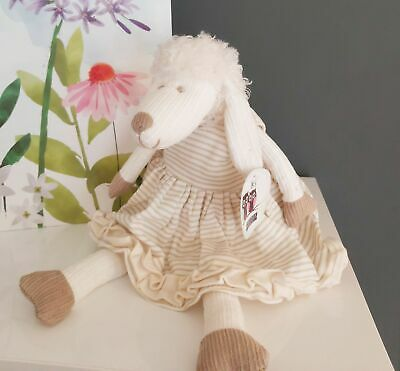 Lottie Lamb Chops Cream Sheep Soft Toy - Free Gift Bag Easter New Baby  • 14.95£