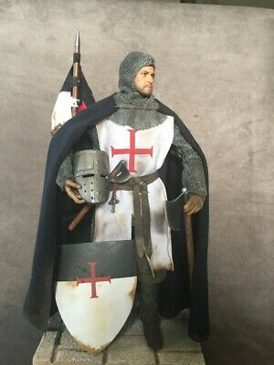 "Custom 12"" Crusader Knights Templar Figure 1/6 Scale.  • 85£"