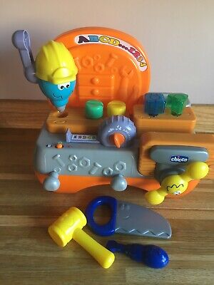 Chicco Talking Carpenter Toy Tool Work Bench English French Excellent Condition • 10£