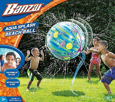 Banzai BEACH BALL Kid Water Fun Play Outdoor Garden Game Giant Splash Sprinkler • 12.95£