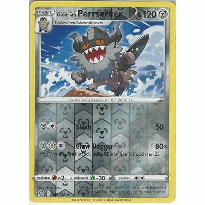 127/192 Galarian Perrserker Rare Reverse Holo Pokemon Sword & Shield Rebel Clash • 1.60£