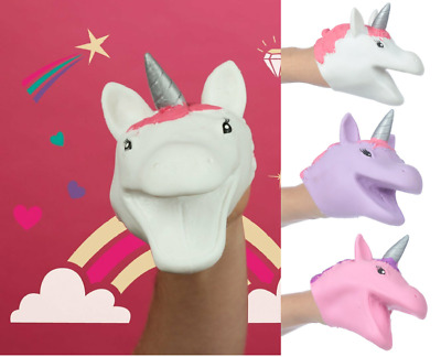 Kids Novelty Silicon Unicorn Hand Puppet Great Party Bag Filler Pocket Money Toy • 3.13£