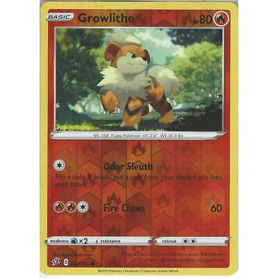 027/192 Growlithe | Common Reverse Holo Card Pokemon Sword & Shield Rebel Clash • 1£