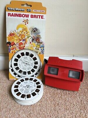 Vintage 3D ViewMaster & 19 Reels. NEW Rainbow Brite, Cinderella, Royal Wedding • 34.99£
