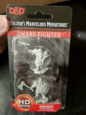 Nolzur`s Marvelous Miniatures Dungeons & Dragons Male Dwarf Fighter - New • 2.99£