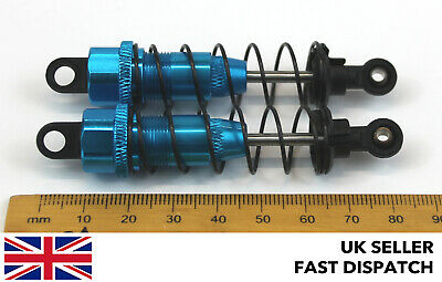 Blue Aluminium Shock Absorbers For RC Buggy/Car 85mm 77mm X 17mm 1/10 Scale • 8.50£