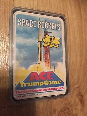 Vintage Ace Top Trumps Card Game- Space Rockets. • 6.50£