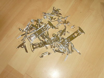 Mixed Lot Of 100  1/43 Scale Chromed Plastic Model Car Parts  • 4.99£
