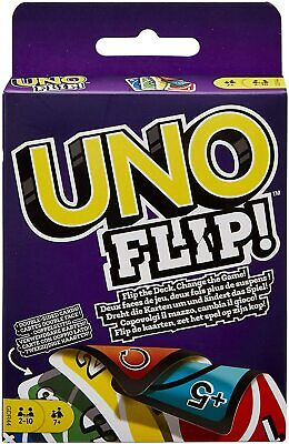 Mattel Games GDR44 Flip Card Game, Multi Colored Exciting New Twists From Uno • 3.99£
