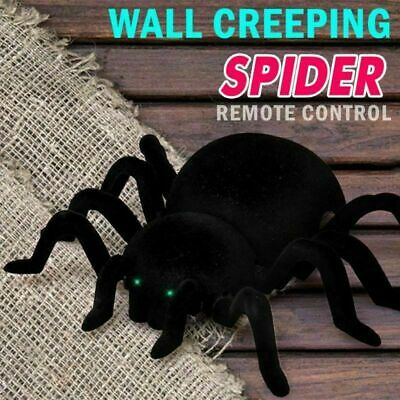 Black Terrifying RC Wall Climbing Spider Remote Control Car Kids Trick Funny Toy • 18.99£