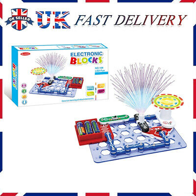 Educational Snap Circuits Electronics Discovery Blocks Kit Science Toy Kids DIY • 12.99£