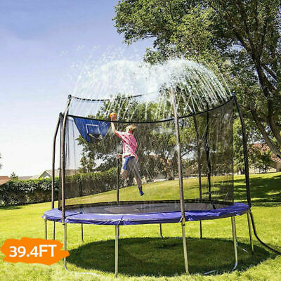 12m Trampoline Sprinkler Spray Water Garden Kids Water Park Summer Outdoor Game • 9.99£