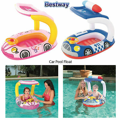 Bestway Kids Infants Inflatable Car Swimming Pool Float Blow Up Ride On Toy Lilo • 9.58£