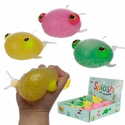 Fun Kids Squeezy Fish Pocket Money Toy Party Bag Stocking Filler • 7.13£