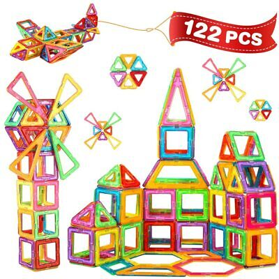 Magnetic Building Blocks Tiles Kids' Educational Set Construction Toys Pieces • 20.69£