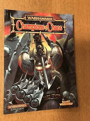 Games Workshop Warhammer Champions Of Chaos Book • 10£