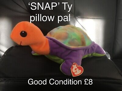 'Snap' The Tortoise Ty Beanie Babies Pillow Pal, Good Condition  • 7£