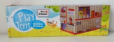 Play Tent Pet Clinic Indoor Playhouse Role Play Vet 3+ Children NEW-damaged Box • 18£