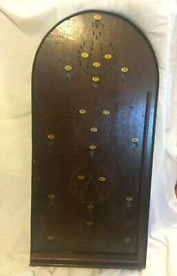 Antique Bagatelle Game Board Table Vintage Retro Treen Wood Wooden Authentic Bra • 20£