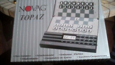 Novag Topaz Chess Computer Schachcomputer Old Vintage Early 1990's • 100£