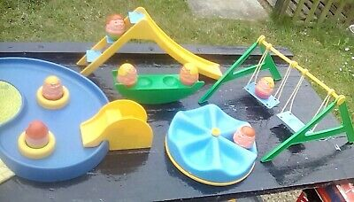 Weebles Set Playground And Weebles Vintage 1970s • 80£