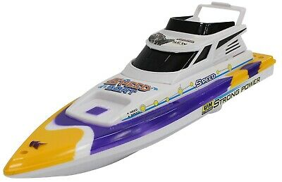 Large Toy Motor Boat Speed Boat Yellow 32cm Boat For The Bath Battery Operated • 7.99£