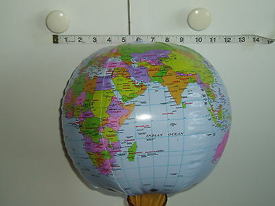 40cm INFLATABLE GLOBE - WORLD EARTH MAP ATLAS.- BALL - Party Bag Filler   • 2£