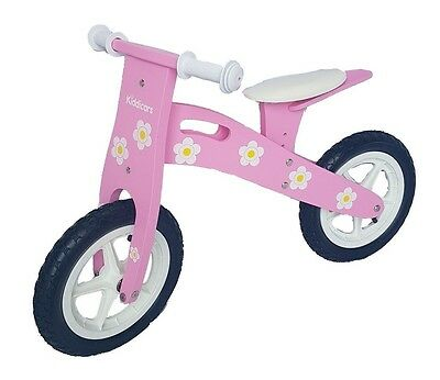 Kiddicars Wooden Balance Bike Running Bike Scooter Available In 2 Designs • 24.95£