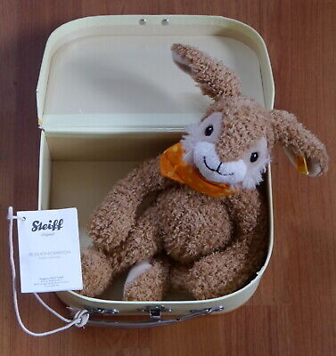 Steiff Jolly Dangling Rabbit In A Yellow Suitcase • 24.95£