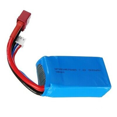 7.4V 1500mAh Lipo Battery Upgrade Wltoys 12423 12428 144001  RC Racing Car Buggy • 13.99£