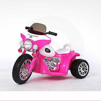 Kids Police Bike 6v Ride On 3 Wheel Trike Battery Powered Tricycle Motorbike Car • 49.95£