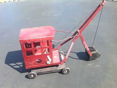 Tri-ang Dockside Crane Triang Crane Bucket Scoop Red Rare Vintage Toys • 39.99£