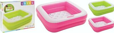 Intex Square Baby Paddling Pool Swimming Play Pool Inflatable Cushion Floor • 12.95£