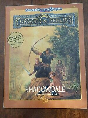 Shadowdale Forgotten Realms AD&D 2nd Edition Module TSR 9247 FRE1 1989 With Map • 5£