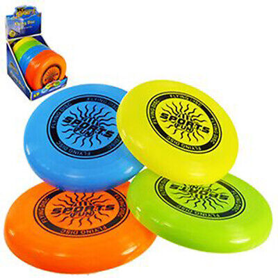 10  Flying Disk Frisbee Kids Adult Family Garden Beach Outdoor Game Play Toy • 3.25£
