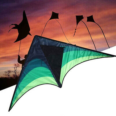 Large Delta Kite For Kids And Adults Single Line Easy To Fly Kite Handle  HOOYB • 4.23£