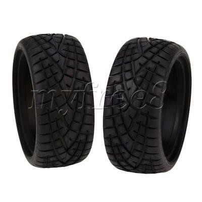 4PCS 65MM Dia Black Fish Pattern Rubber Wheel Tire For RC1:10 On Road Car • 15.08£