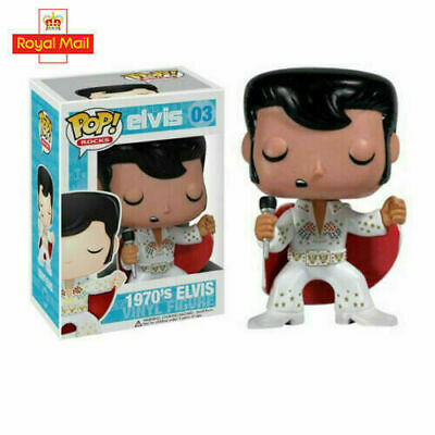 UK FUNKO POP NEW Elvis Presley Figure Toy Collection Model For Kids Gifts • 17.66£