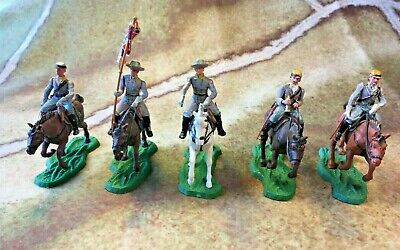 Britains Swoppets ACW Confederate Cavalry X5 • 23£