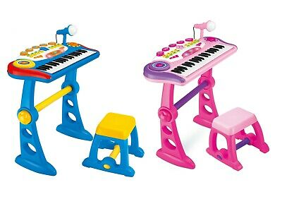Kids Children 37 Keys USB Recharable Electronic Keyboard Piano With Music,stool • 39.99£