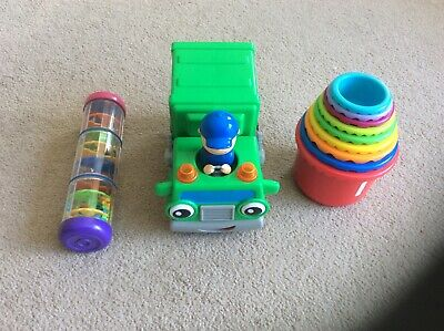 3 Preschool Toys,  stacking Cups, Dustcart, Waterfall Beads • 4.01£