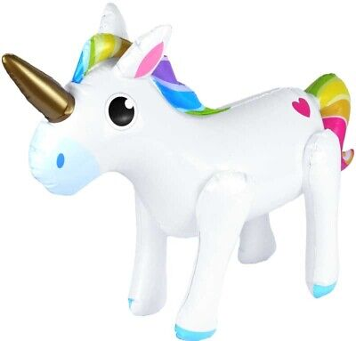 Inflatable Unicorn 53 X 35CM Floating Swimming Pool Beach Party Inside Outside • 3.19£
