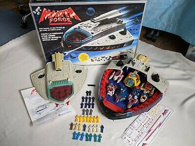 Vintage! Manta Force Command Space Ship Bluebird Toys With Vehicles, Figures BOX • 35£