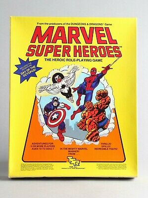 Marvel Super Heroes The Heroic Role-Playing Game TSR Basic Set RPG 1984 Vintage • 13£