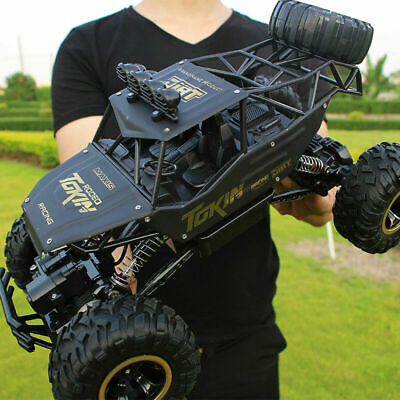 Large Remote Control RC 4WD Big Wheel Toy Car Monster Truck 2.4 GHz RTR Car Toys • 29.99£