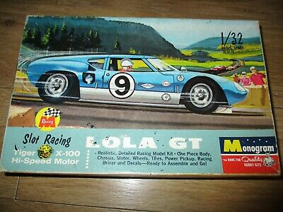 Vintage Monogram 1/32 Slot Racing Lola Gt Box  • 9.50£